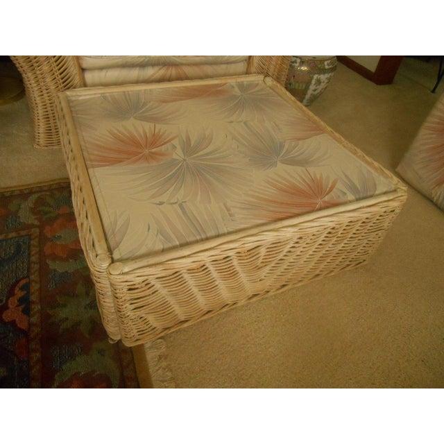 Custom Palm Beach Regency Bamboo Lounge & Ottoman - Image 7 of 8