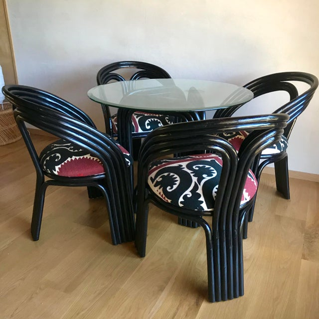 1970s Mid-Century Bentwood Bamboo Bistro Dining Set - 5 Pieces For Sale - Image 5 of 13