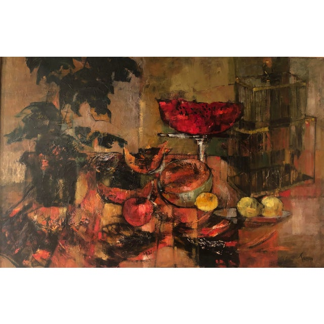 Abstract Original Mid Century Modern Jenny Tomao Abstract Still Life Painting For Sale - Image 3 of 5