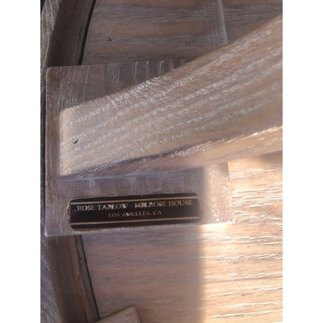 Rose Tarlow for Melrose House Side Tray Table Restored and Cerused For Sale In West Palm - Image 6 of 11