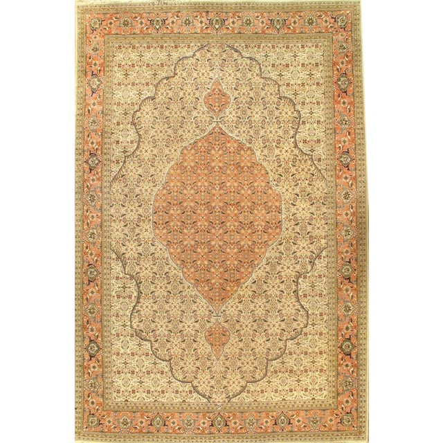 """Pasargad NY Antique Persian Tabriz Hand-Knotted Rug - 8'2"""" x 12'6"""" For Sale"""
