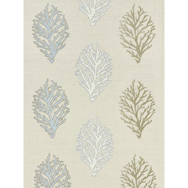 Transitional Scalamandre Coral Reef Embroidery, Sand Fabric For Sale - Image 3 of 3