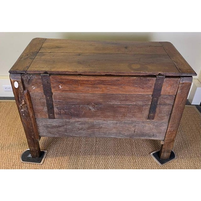 Brown Late 18th Century French Blanket Chest For Sale - Image 8 of 13