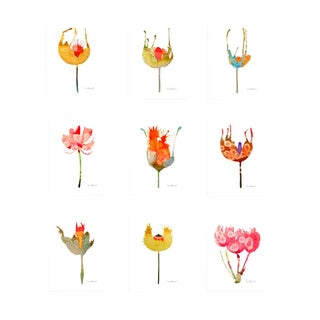 Botanical Groupings Set of 9 Giclee Prints For Sale