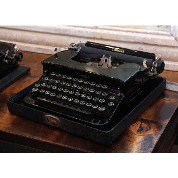 Antique Smith Corona Typewriter With Case - Image 2 of 6