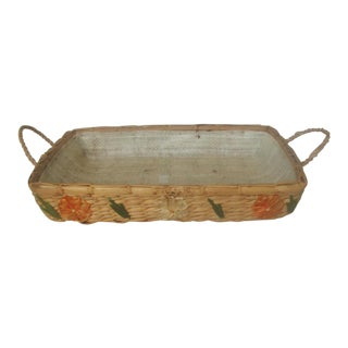 Decorative Rattan Serving Carrier For Sale