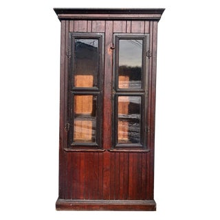 19th Century Federal Coat Armoire Cabinet For Sale