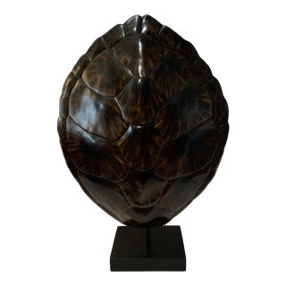 Contemporary Faux Resin Turtle Shell Lamp For Sale