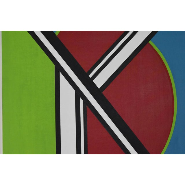 Early 20th Century early 20th Century Mondrian Style Geometric Acrylic Painting For Sale - Image 5 of 8