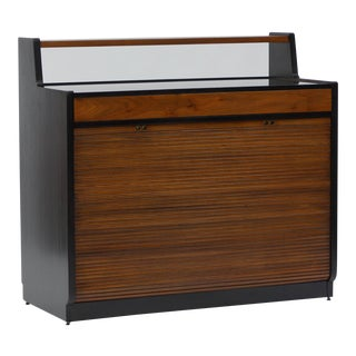 Tambour Front Bar Cabinet by Edward Wormley for Dunbar For Sale