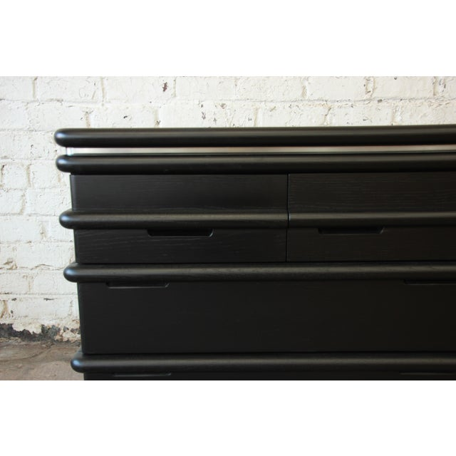 Vintage Jay Spectre for Century Furniture Cerused Oak & Chrome Dresser - Image 6 of 11