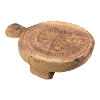 Fuli Nepalese Carved Lotus Chakla Stand For Sale