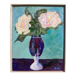 Contemporary Painting, French Roses For Sale