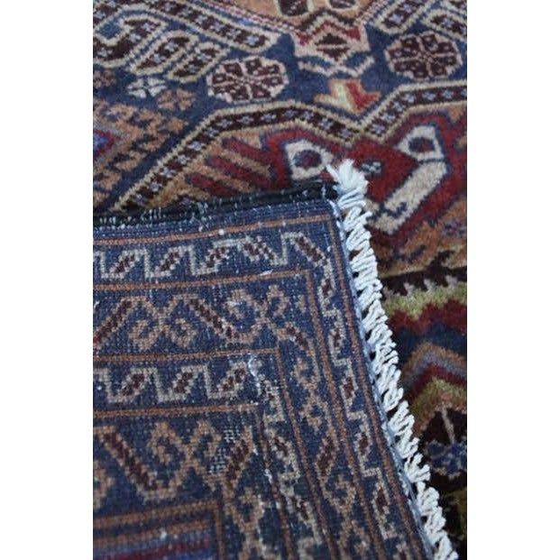 """Vintage Persian Balouch Rug - 2'9"""" X 4'5"""" - Image 8 of 9"""