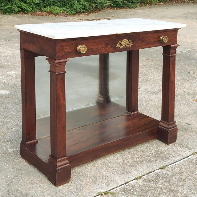19th Century French 2nd Empire Period Marble Top Console For Sale - Image 11 of 11