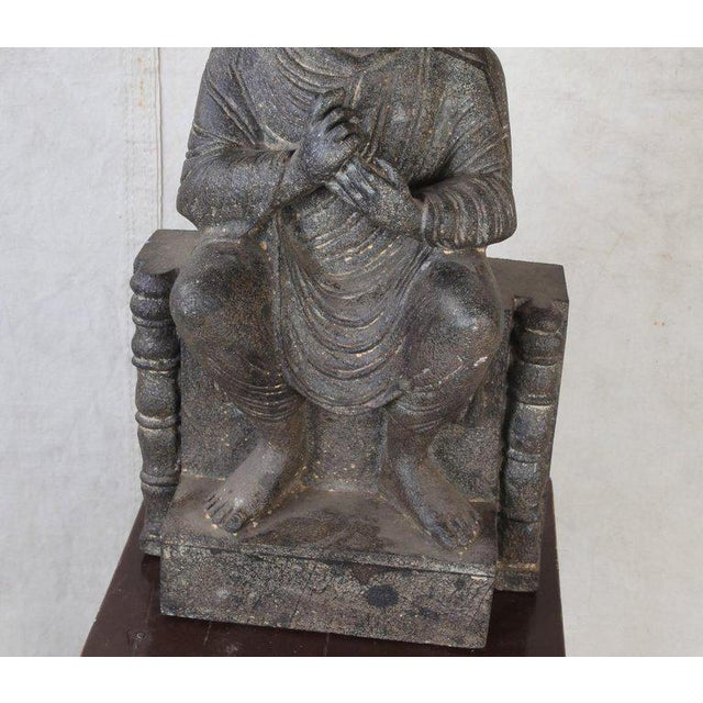 Granite Sitting Buddha, India, Early 1900s For Sale - Image 9 of 10