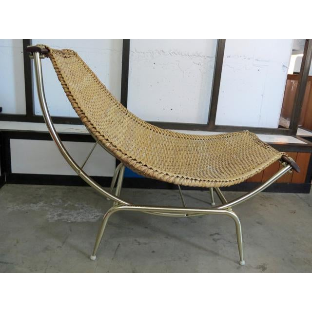 Metal 1950s Vintage Troy Sunshade Lounge Chair For Sale - Image 7 of 7