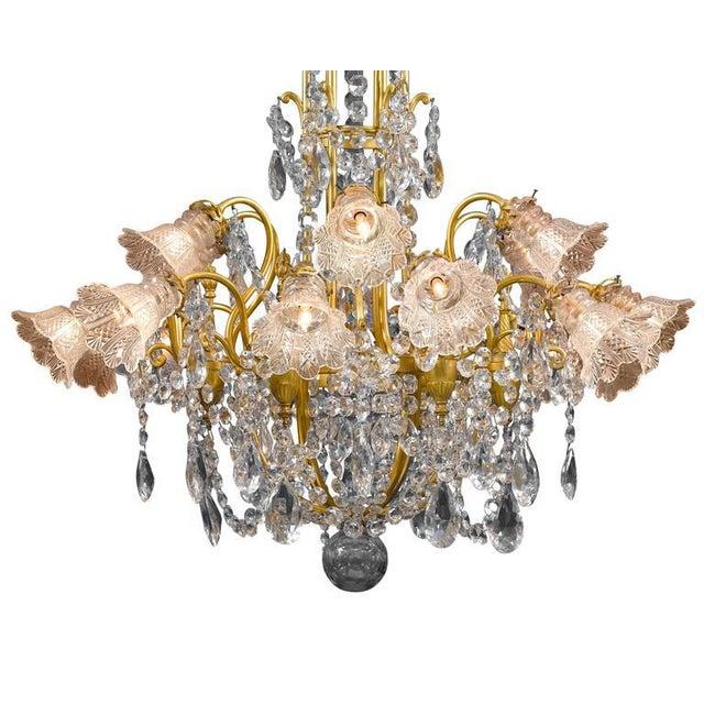 Hollywood Regency Eighteen-Light Baccarat Crystal Chandelier For Sale - Image 3 of 5