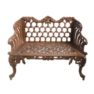 Cast Iron French Garden Bench For Sale