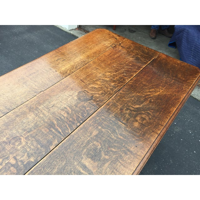 Mid 19th Century Antique French Farm Table With Drawers For Sale - Image 5 of 13