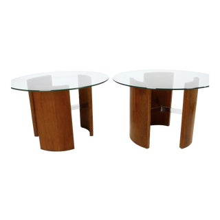"Vladimir Kagan ""Radius"" Tables - a Pair For Sale"