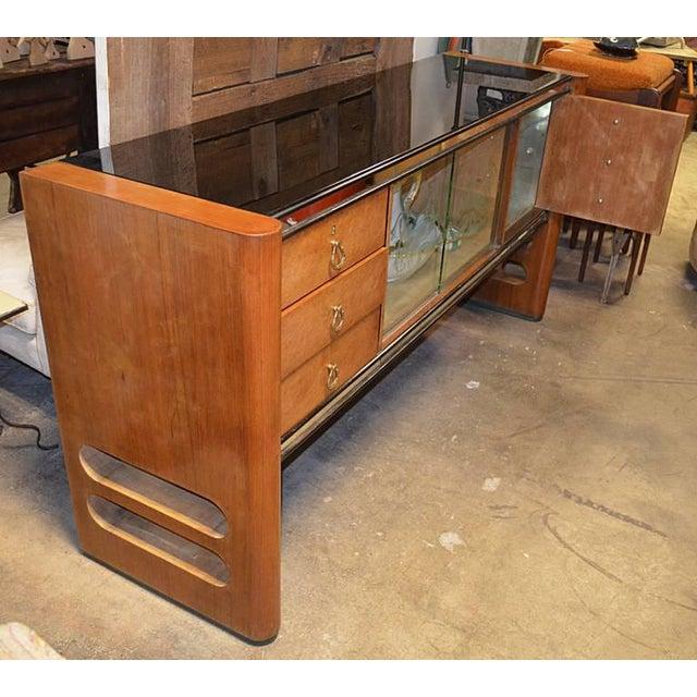 1940s Art Deco Italian Wood Sidebaord For Sale - Image 9 of 10