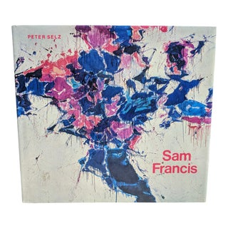1975 Sam Francis Abstract Expressionist Artist Hardcover Coffee Table Book For Sale