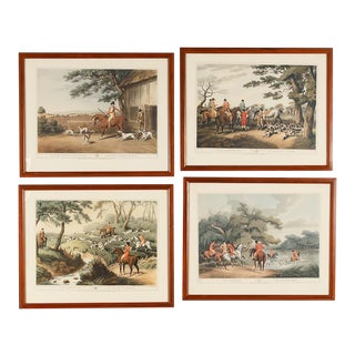 English Framed Hunting Scene Prints - Set of 4 For Sale