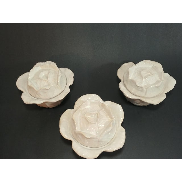 1960s Mid-Century Italian Ceramic Cabbage Bowls - Set of 3 For Sale - Image 5 of 9