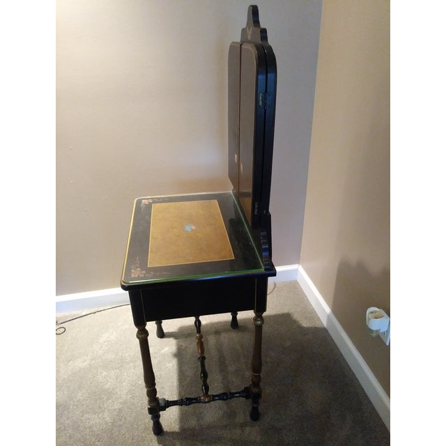 Stickley Bros. Vanity W/ Tri Fold Mirror & Chair For Sale - Image 12 of 13