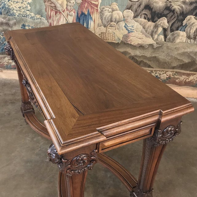 19th Century French Louis XIV Walnut Console For Sale - Image 10 of 13