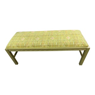 1940s Chinese Chippendale Long Bench For Sale