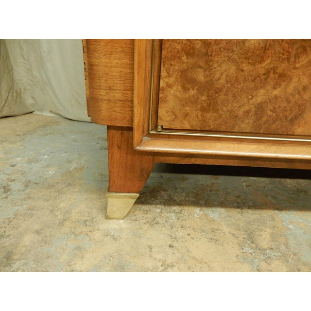 Brown 1940's Large French Walnut Enfilade by Maurice Rinck For Sale - Image 8 of 12