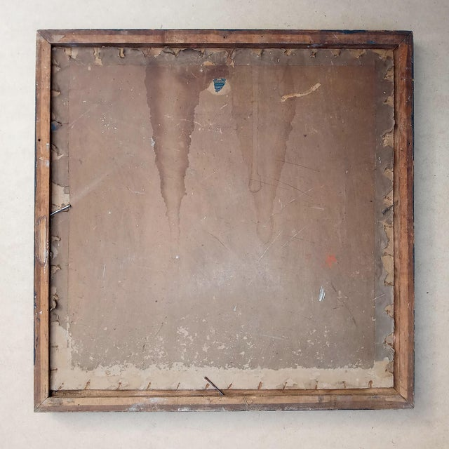 Paint Mid 20th Century French Cubist Oil Painting, Framed For Sale - Image 7 of 8