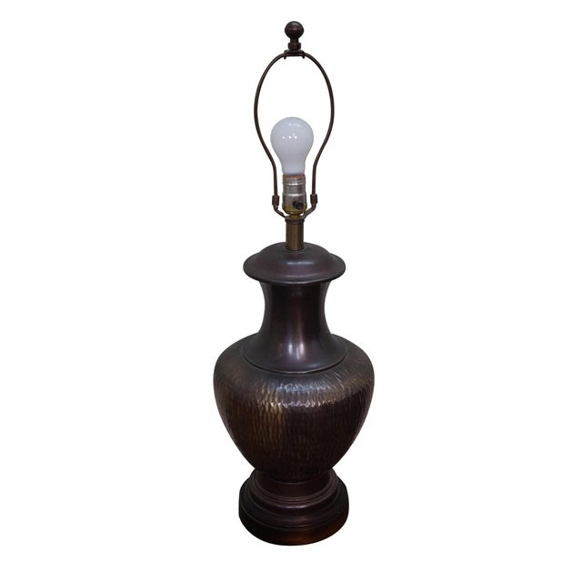 Frederick cooper hammered copper table lamp chairish frederick cooper hammered copper table lamp mozeypictures Image collections