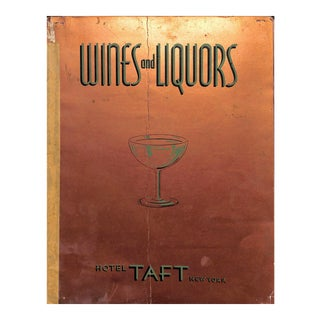 """""""Wines and Liquors"""" Book For Sale"""