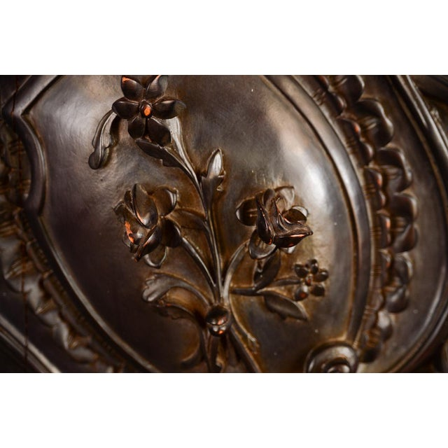 Antique Neoclassical Carved Doors - Set of 4 - Image 10 of 11