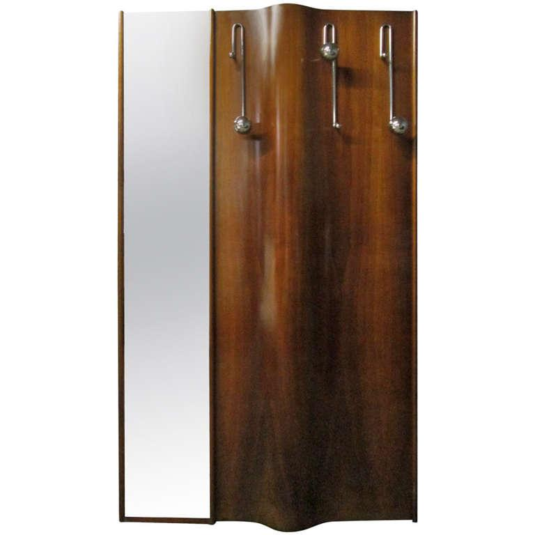 Sophisticated Italian Wall Mounted Coat Rack With Mirror Decaso
