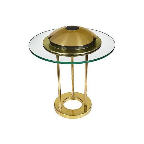 George Kovacs Glass Disc Table Lamp For Sale - Image 5 of 6