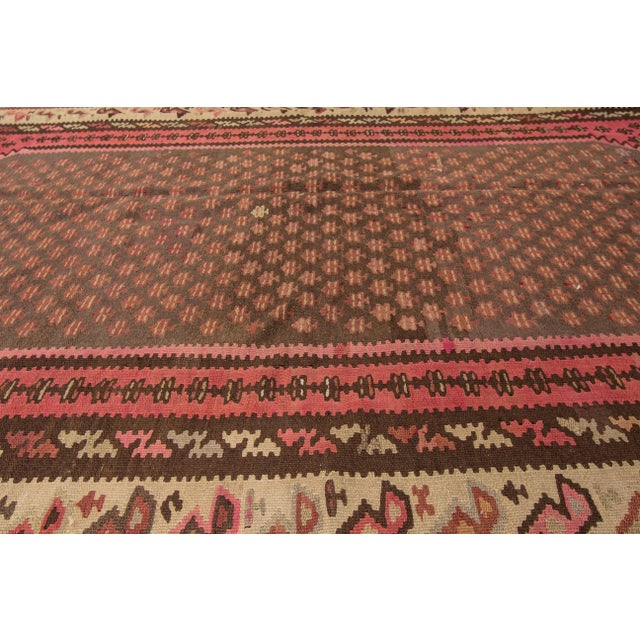 "Apadana - Vintage Persian Kilim Rug, 5'8"" x 9'2"" For Sale - Image 5 of 6"
