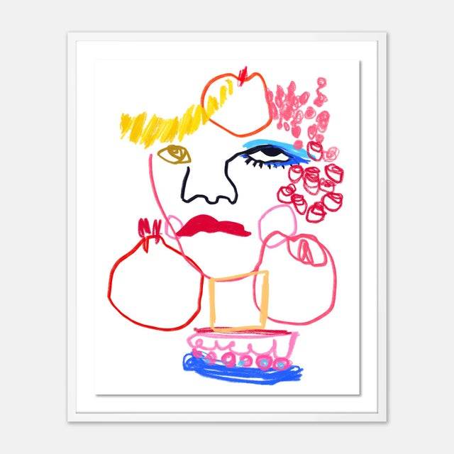 Contemporary Tuttie Fruittie by Annie Naranian in White Frame, Small Art Print For Sale - Image 3 of 3