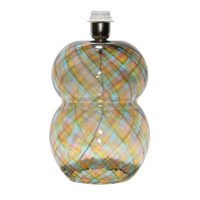 """Unique Cenedese """"Reticello"""" Blown Glass Table Lamp For Sale"""
