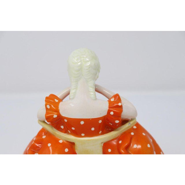 1940s 20th Century Italian Sculpture in Polychrome Artistic Ceramics by G Ronzan, 1945 For Sale - Image 5 of 10