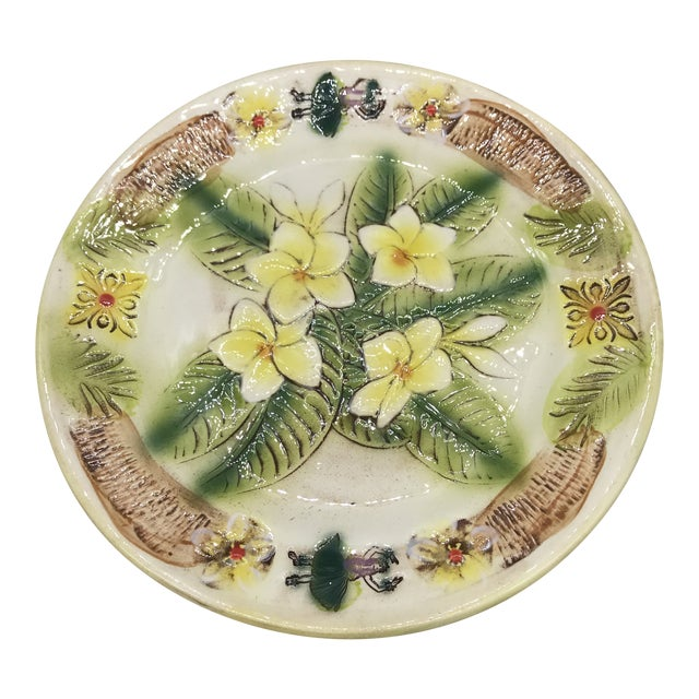 Vintage Kani of Hawaii Pottery Pie Plate For Sale