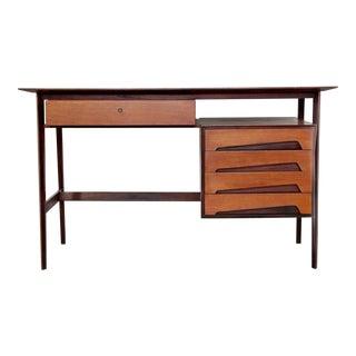 1950's Mid Century Modern Edmondo Palutari for Dassi Teak Desk For Sale