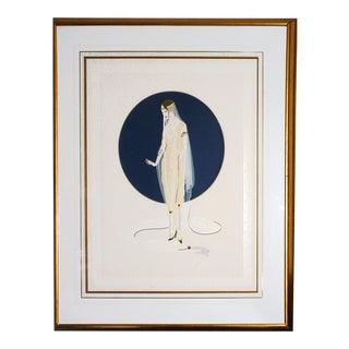 """1980s Erté, """"Devotion"""", Art Deco Screenprint For Sale"""
