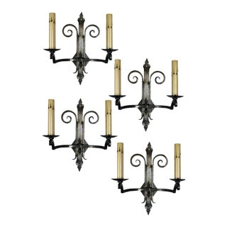 French Iron Sconces - Set of 4