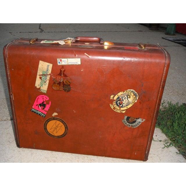 Vintage Samsonite Leather Suitcase - Image 8 of 8