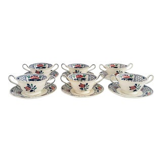 Vintage Wedgwood Bouillon Bowls & Saucers - Set of 6