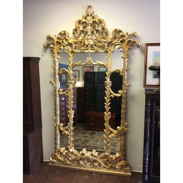 1990s 1990s Vintage Italian Gilded Pier Mirror For Sale - Image 5 of 13